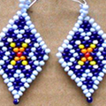 How To Make Diamond-shaped Earrings Out Of Beads