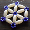 How To Make A Snowflake Out Of Beads